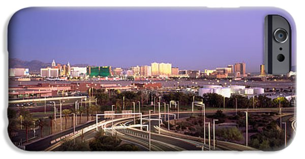 Built Structure iPhone Cases - Roads In A City With An Airport iPhone Case by Panoramic Images