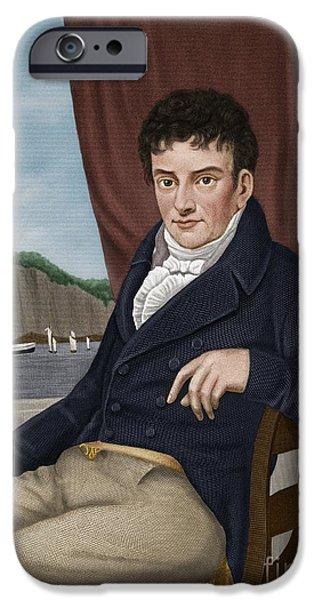 Nineteenth iPhone Cases - Robert Fulton, American Engineer iPhone Case by Maria Platt-Evans