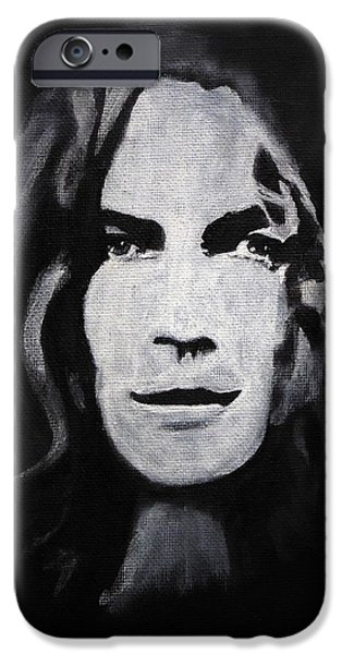 Robert Plant Paintings iPhone Cases - Robert Plant iPhone Case by William Walts