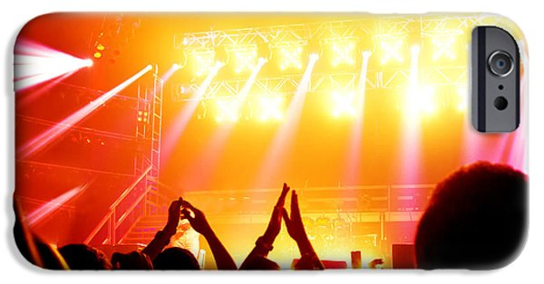 Applaud iPhone Cases - Rock concert iPhone Case by Anna Omelchenko