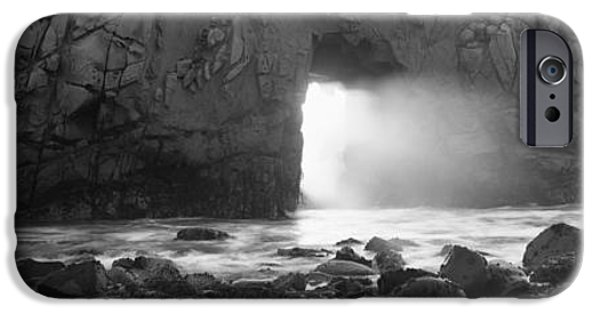 Big Sur Beach iPhone Cases - Rock Formation On The Beach, Pfeiffer iPhone Case by Panoramic Images
