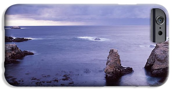 Big Sur California iPhone Cases - Rock Formations At The Coast, Big Sur iPhone Case by Panoramic Images