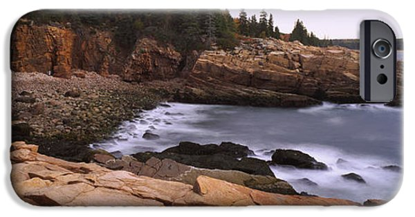 Rugged Coastline iPhone Cases - Rock Formations At The Coast, Monument iPhone Case by Panoramic Images
