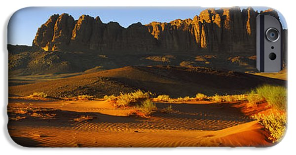 Jordan iPhone Cases - Rock Formations In A Desert, Jebel iPhone Case by Panoramic Images