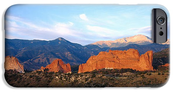 Mountain iPhone Cases - Rock Formations On A Landscape, Garden iPhone Case by Panoramic Images