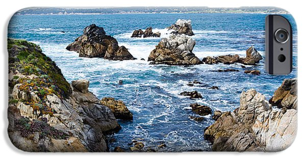 Point Lobos State iPhone Cases - Rock Formations On The Coast, Point iPhone Case by Panoramic Images