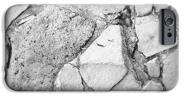 Facade iPhone Cases - Rock wall iPhone Case by Les Cunliffe