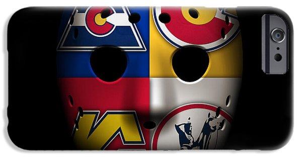 Rockies iPhone Cases - Rockies Goalie Mask iPhone Case by Joe Hamilton
