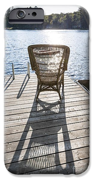 Rocking chair on dock iPhone Case by Elena Elisseeva