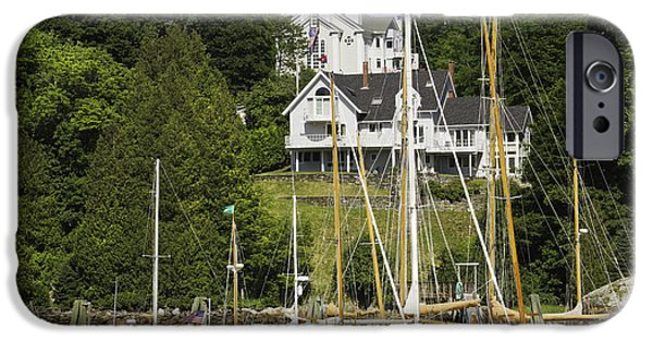 East Village iPhone Cases - Rockport on The Coast Of Maine iPhone Case by Keith Webber Jr