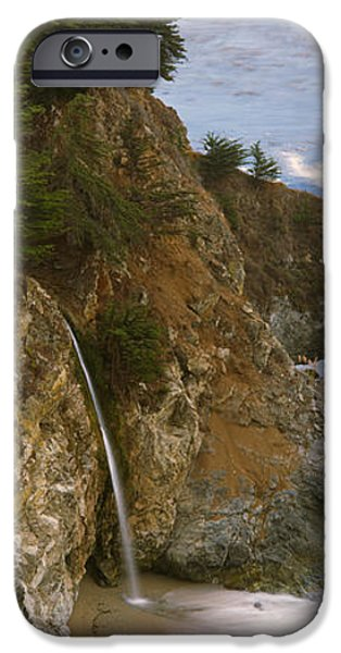 Big Sur Beach iPhone Cases - Rocks On The Beach, Mcway Falls, Julia iPhone Case by Panoramic Images
