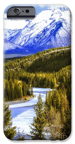 Snowy iPhone Cases - Rocky Mountains landscape iPhone Case by Elena Elisseeva