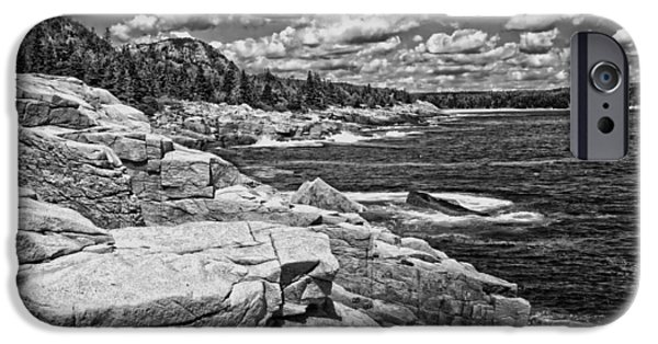 Otter Digital Art iPhone Cases - Rocky Summer Seascape Acadia National Park Photograph iPhone Case by Keith Webber Jr