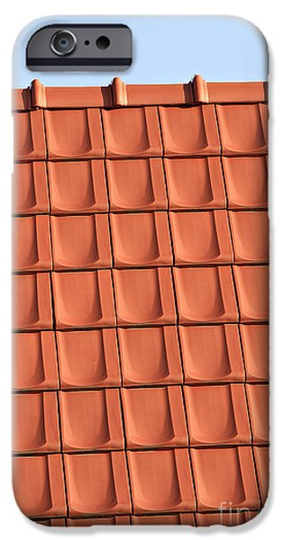 Built Structure iPhone Cases - Roof Tiles iPhone Case by Dan Radi