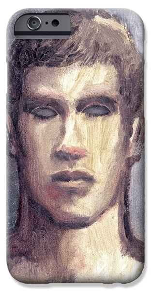 Young Paintings iPhone Cases - Rookie  iPhone Case by Line Arion