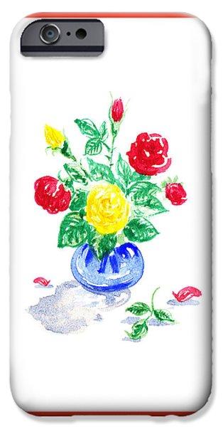 Rose iPhone Cases - Rose Bouquet iPhone Case by Irina Sztukowski