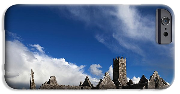 Antiquated iPhone Cases - Ross Errilly Franciscan Friary 1351 iPhone Case by Panoramic Images