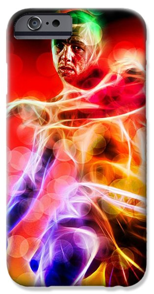 Cage Fighter Digital Art iPhone Cases - Ross Pearson iPhone Case by John Lynch