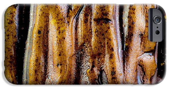 Abstracts Ceramics iPhone Cases - Rough abstract ceramic surface iPhone Case by Kerstin Ivarsson