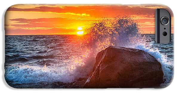 Bayside iPhone Cases - Rough Sea iPhone Case by Bill  Wakeley
