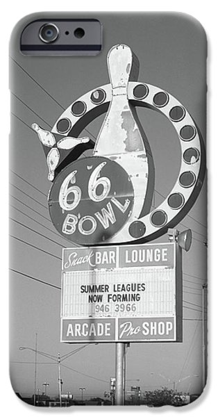 Freedom iPhone Cases - Route 66 Bowl iPhone Case by Frank Romeo