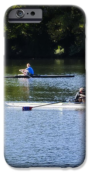 Rowing in Philadelphia iPhone Case by Bill Cannon