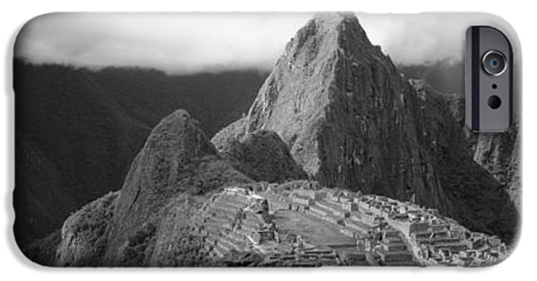 Ancient Ruins iPhone Cases - Ruins, Machu Picchu, Peru iPhone Case by Panoramic Images