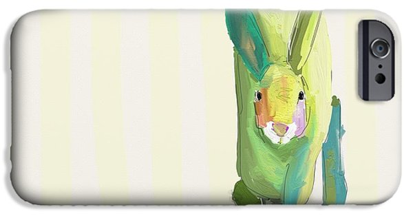 Child iPhone Cases - Running Bunny iPhone Case by Cathy Walters
