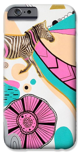 Abstract Digital iPhone Cases - Running High iPhone Case by Susan Claire