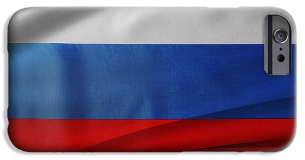 Flag iPhone Cases - Russian flag iPhone Case by Les Cunliffe