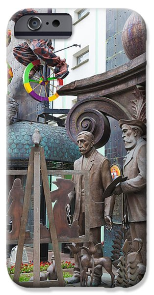 Personalities Photographs iPhone Cases - Russian Super-artist Sculptures, Zurab iPhone Case by Panoramic Images