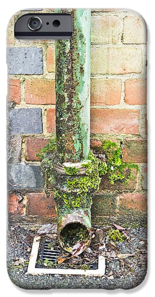 Broken iPhone Cases - Rusty drainpipe iPhone Case by Tom Gowanlock