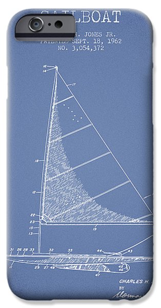 Sailing iPhone Cases - Sailboat Patent from 1962 - Vintage iPhone Case by Aged Pixel