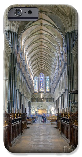 Wiltshire iPhone Cases - Salisbury Cathedral iPhone Case by Juli Scalzi