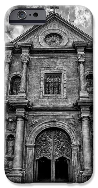 Il iPhone Cases - San Agustin Church  iPhone Case by Adrian Evans