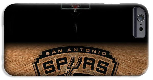 Arena iPhone Cases - San Antonio Spurs iPhone Case by Joe Hamilton