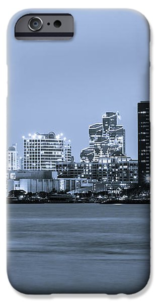 San Diego at Night iPhone Case by Paul Velgos