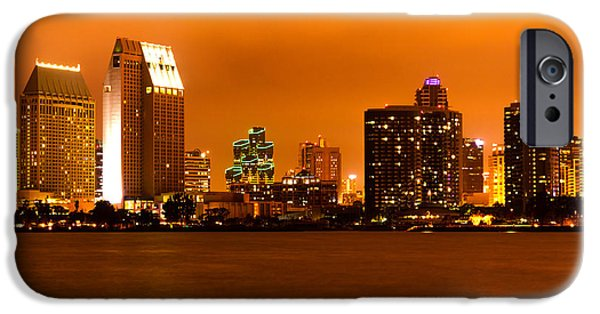 2012 iPhone Cases - San Diego Skyline at Night iPhone Case by Paul Velgos