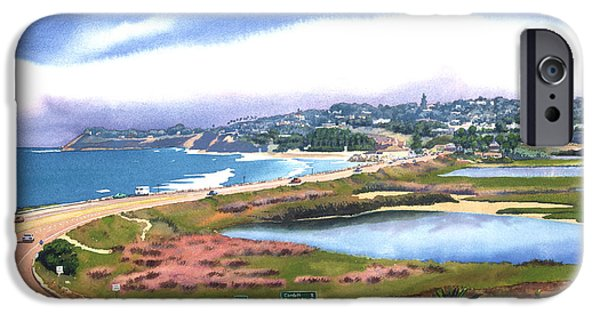 Layered iPhone Cases - San Elijo and Hwy 101 iPhone Case by Mary Helmreich
