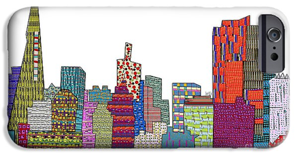 Buildings Mixed Media iPhone Cases - San Francisco iPhone Case by Bri Buckley