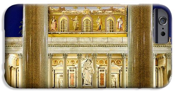 Basilica iPhone Cases - San Paolo fuori le Mura iPhone Case by Fabrizio Troiani