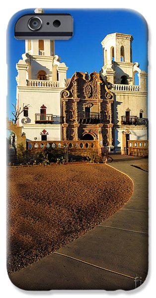 House iPhone Cases - San Xavier Mission Christian Achurch iPhone Case by Lane Erickson