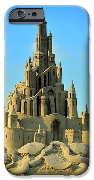 Sand Castles iPhone Cases - Sand Castle iPhone Case by Katrin Bellyeu