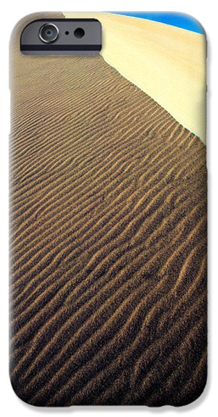 Sand Dunes iPhone Cases - Sand Dunes In A Desert, Death Valley iPhone Case by Panoramic Images