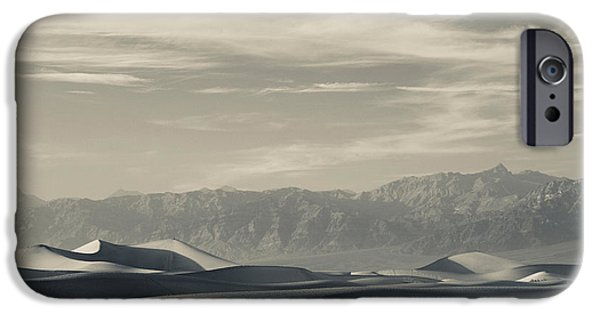 Sand Dunes iPhone Cases - Sand Dunes In A Desert, Mesquite Flat iPhone Case by Panoramic Images