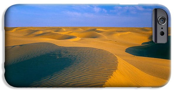 Sand Dunes iPhone Cases - Sand Dunes The Thar Desert, Rajasthan iPhone Case by Panoramic Images