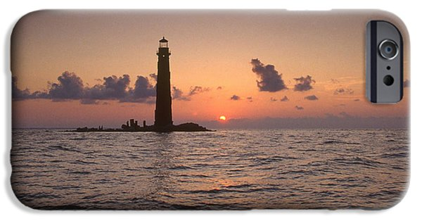 Lighthouse iPhone Cases - Sand Island Lighthouse, Al iPhone Case by Bruce Roberts
