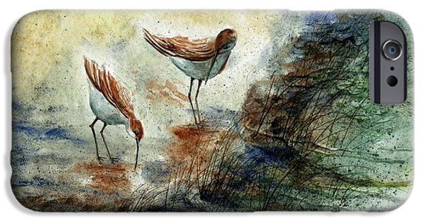 Award Winning Art iPhone Cases - Sand Pipers iPhone Case by Steven Schultz
