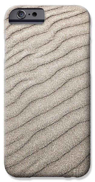 Wavy iPhone Cases - Sand ripples abstract iPhone Case by Elena Elisseeva