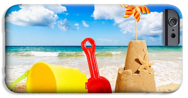 Sandcastle iPhone Cases - Sandcastle iPhone Case by Amanda And Christopher Elwell